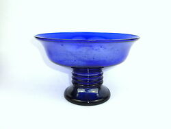 Seltene Big Glass Bowl Jean Beck München About 1910 Marked Bowl