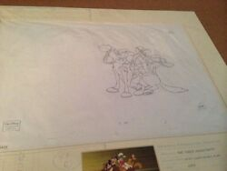Disneyand039s 3 Musketeers Mickey Mouse Donald Duck Pluto Goofy Production Drawings