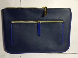 New Estee Lauder Cosmetic Bag Faux Leather in BLUE GWP $2.39