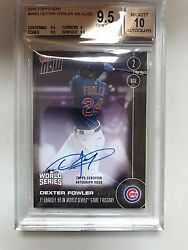 Dexter Fowler Auto World Series Card /25 Cubs - Sold Out Bus 9.5/10 Perfect