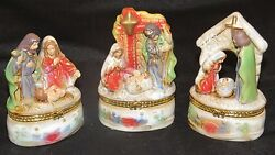 Holiday Themed Hinged Trinket Boxes