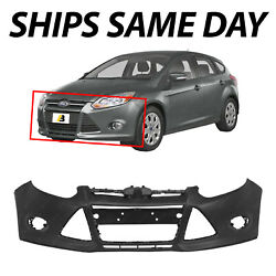NEW Primered Front Bumper Cover for 2012 2013 2014 Ford Focus Sedan Hatch $133.50