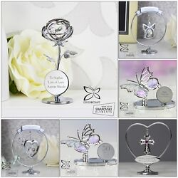 Personalised Gifts, Silver Plated Crystocraft Crystal Ornaments, Birthday