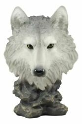 Life-like Wolf Head Bust Statue Nature Decor Wolves 16.5 Height Figurine Decor
