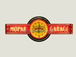 Mopar Garage Neon Clock Sign - 6and039 Long - Made In Usa Gas Oil Sign