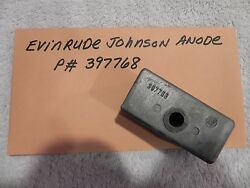 Evinrude Johnson Outboard Zinc Anode P 397768 Factory Oem