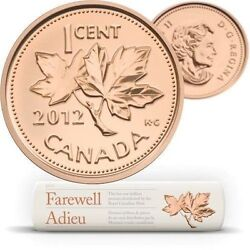 2012 Canada Farewell To The Penny Special Replacement Wrap Roll Rare