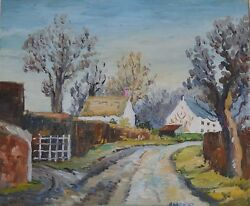 A Lane Near Berkswell Cuthbert Bardsley Bishop Of Coventry Oil Painting