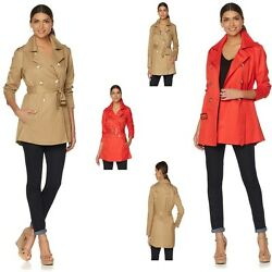 Samantha Brown All-weather Trench Coat 488561-j Plus, Aurora Red