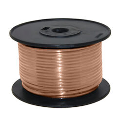 Wire 16 Awg Tan 100ft Roll Ul Fine Strand Tinned Copper