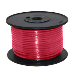 Wire 16 Awg Red 100ft Roll Ul Fine Strand Tinned Copper