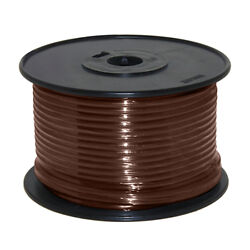 Wire 14 Awg Brown 100ft Roll Ul Fine Strand Tinned Copper