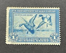 Wtdstamps - Rw1 1934 - Us Federal Duck Stamp - Ng