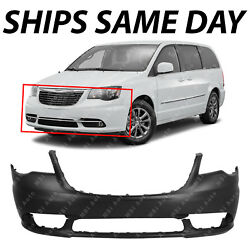 New Primered - Front Bumper Cover Fascia For 2011-2016 Chrysler Town And Country