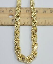 New Solid 10 K Rope Chain 7 Mm With Varied Length 20, 22, 24, 26 28