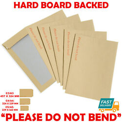 Hard Card Board Back Backed And039please Do Not Bendand039 Envelopes Manilla Brown