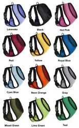 Mesh Padded Soft Puppy Pet Dog Harness Breathable Comfortable 12 Colors 5 Sizes $10.99