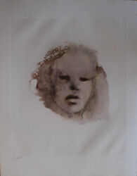 Leonor Fini Lithograph Hand Signed Numbered Limited Edition Visage 1970's
