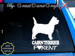Cairn Terrier PARENT(S) - Vinyl Decal Sticker  Color Choice - HIGH QUALITY