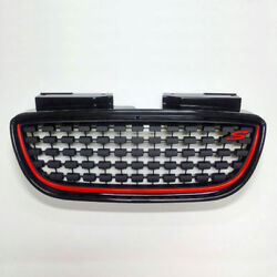 Front Hood Sports Grille 9f Stone Black For 07 08 10 Hyundai Elantra Hd