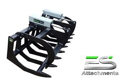 Es 66 Grapple- New Skid Steer Quick Attach Tractor Loader - Local Pick Up