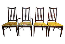 Set Of 4 Midcentury Arrow-back Dinning Chairs