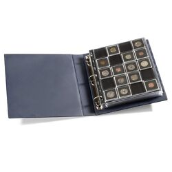 Professional Coin Album + 6 Encap Pages Of 2x2 Square Holder Gold Silver Storage