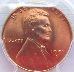 1951-d Lincoln Cent Pcgs Ms67rd Brilliant -smooth Fields