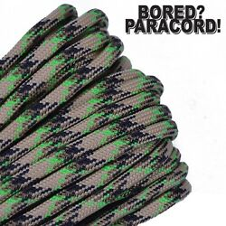 Swamp Thing - 550 Paracord Rope 7 Strand Parachute Cord 10 25 50 100 Ft