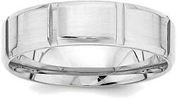 14k White Gold Heavy Comfort Fit Fancy Band Ring Wb116h