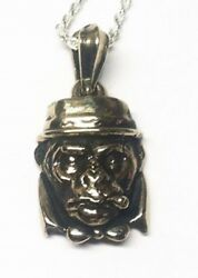 Mr. Monkey Silver Pendant With Ruby