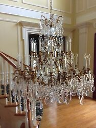 Large EntrywayFoyer Crystal Chandelier with 30 Candles
