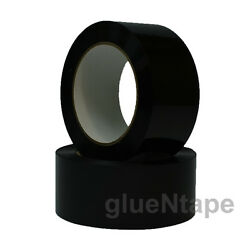 Black Color Carton Sealing Packing Tape 2 X 330and039 / 48 Mm X 110 Yards 36 Rolls