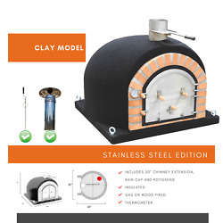 Dome Ovensandreg Pizza Oven With Free Ss Chimney Ss Rain Cap And Rotisserie