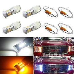 Dual-Color Switchback 31-SMD LED Signal Lights Kit For GMC Sierra 1500 2500 3500