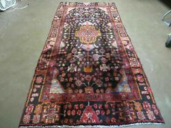 4and039 X 10and039 Antique Hand Made Tribal Turkish Oriental Floral Wool Rug Organic Nice