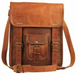 New Genuine Vintage Brown Leather Messenger Bag Shoulder bag For Men amp; women $27.97