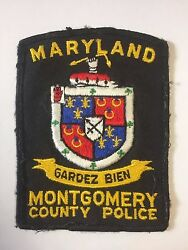 Montgomery County Maryland Police Department Watch Well 3.5 Cloth Patch