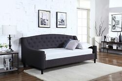 Special Offer New 3ft Fabric Dream Daybed Grey With Wooden Sprung Slats Base