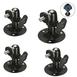 4 x Black Wall Ceiling Metal Mount Bracket Stand Holder For CCTV Security Camera