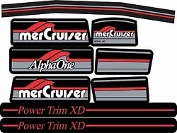 Mercruiser The Most Complete Alpha One Gen One W/red Rams Sticker Set