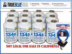 1 Case INTERDYNAMIC R-134aR134a Refridgerant (12) TWELVE 12oz W FREE HOSE 401P
