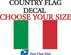 ITALIAN COUNTRY FLAG STICKER DECAL 5YR VINYL Country flag of Italy $2.74
