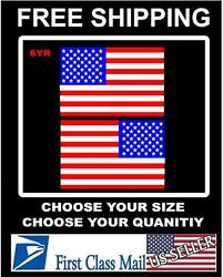 RIGHT amp; LEFT American Flag USA mirrored Vinyl Decals Boat truck car sticker 3m