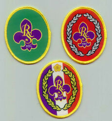 Old Scouts Of China Taiwan - Rover Scout Rover Scout Top Woven Rank Award Set