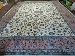 11' X 15' Vintage Hand Knotted Pakistani Oriental Wool Rug Hand Knotted Carpet