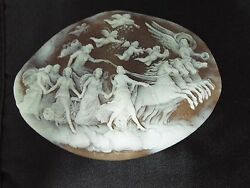 Muesem Quality Hand Carved Cameo Artist Signed Accanito From Torre Del Greco