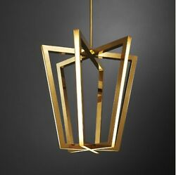 Brass and LED Designer Chandelier Lighting - Christopher Boots - Asterix