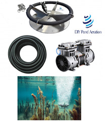 New Lake And Fish Pond Aerator System W/100and039 Sink Hose 36 Diffuser New 1/2hp Pump