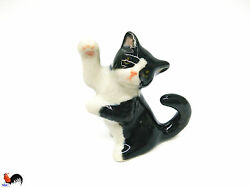 Cat Animal Ceramic Small Figurines Miniature Statue Collectible Decorative  Gift